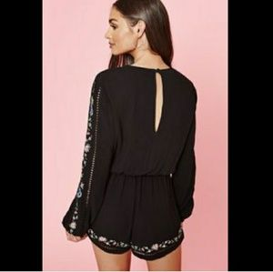 Kendall & Kylie Long Sleeve Cut Out Floral Romper